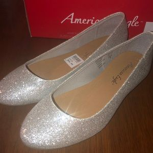 Brand new Silver flats